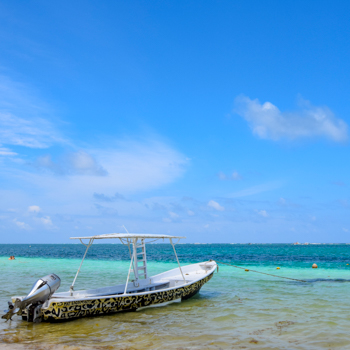 Carribbeanj sea off of Puerto Morelos, MX