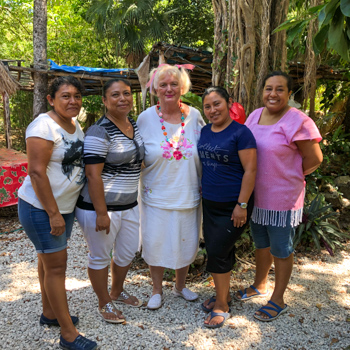 Ixchel Jung Spa staff, Sandra Dayton and some of the massage therapists