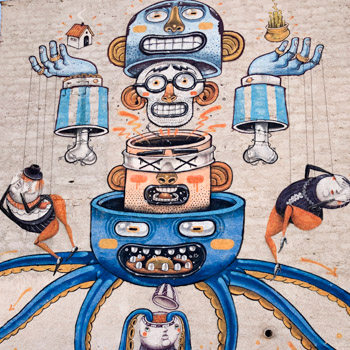 Mr Thoms street art in Palermo, Sicily