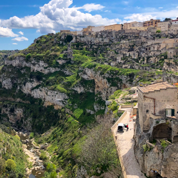 Matera on the canyon