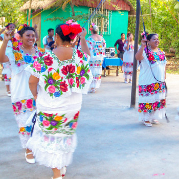 Maya dancers at the Ixchel Jungle Spa and Market